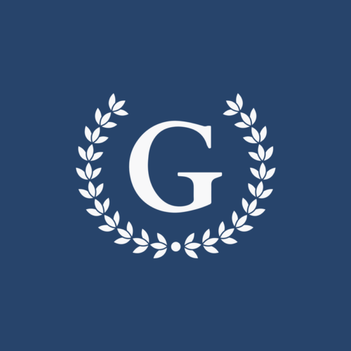 Galin Education logo on blue background